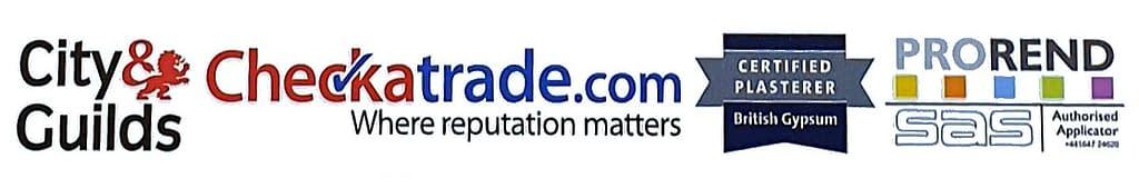 plastering services endorsed by Checkatrade